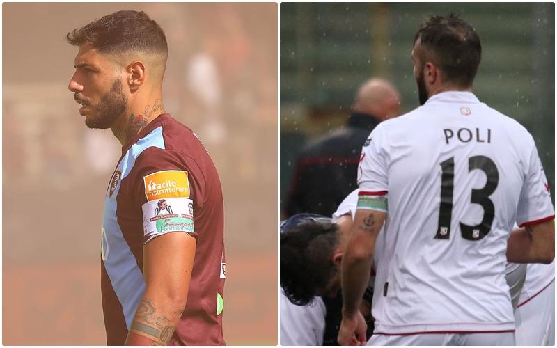 Per la sfida Salernitana-Carpi la Fondazione Polito ha donato a Schiavi e Poli la fascia di capitano del Passaporto Ematico