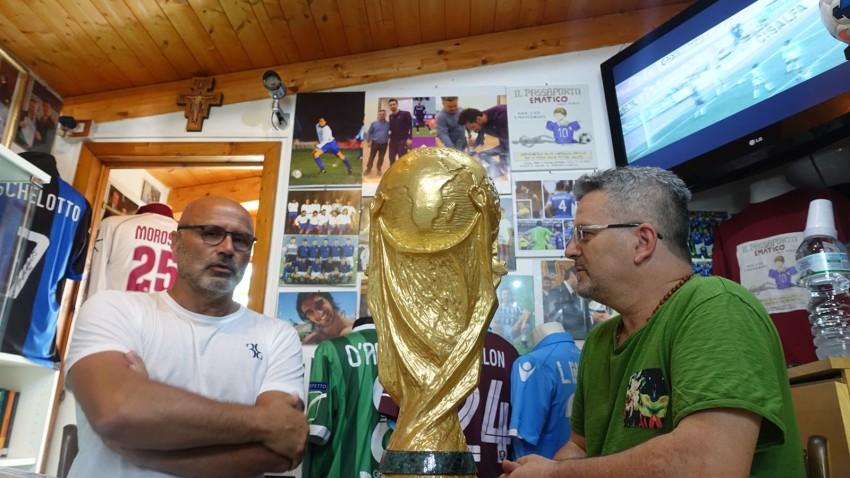 Stefano Colantuono, attuale tecnico della Salernitana, ricorda Andrea Fortunato in visita al Museo del Calcio della nostra Fondazione
