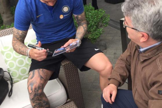 La Fondazione fa visita all'Inter nel ritiro